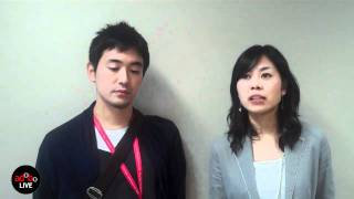adoboLIVE! Arata Hashimoto & Ai Orito of Dentsu Japan, winners of the Young Spikes Media competition