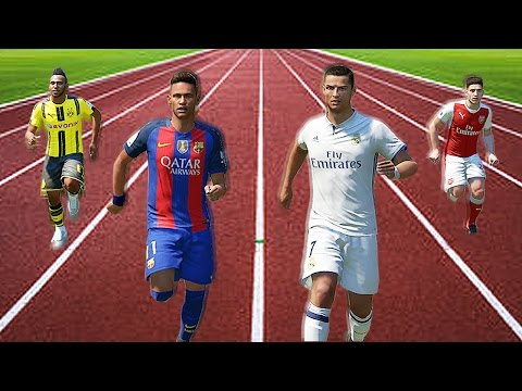 FIFA 17 Speed Test | Fastest Players In FIFA Without The Ball