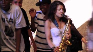 Saxy Sax Girl in New York: Careless Whisper Prank