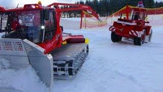 RC wheel loader at snow cat meeting | Radlader im WINTERDIENST beim Modell-Pistenraupen-Treffen