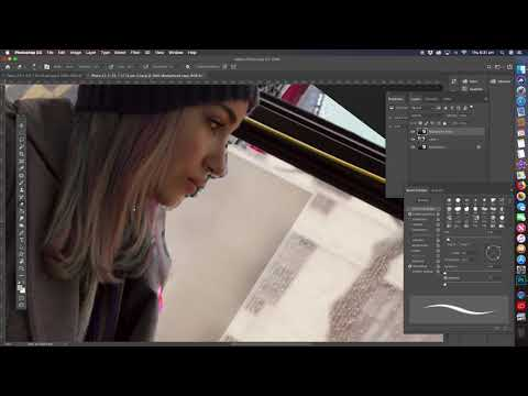 Photoshop Tutorial for Beginners -Changing a ladys view on the bus