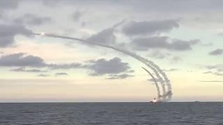 Из акватории Каспийского моря по террористам в Сирии нанесен ракетный удар
