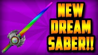 CRAFTING THE RAINBOW SABER!!! *EPIC NEW DREAM SABER* (ROBLOX ASSASSIN)