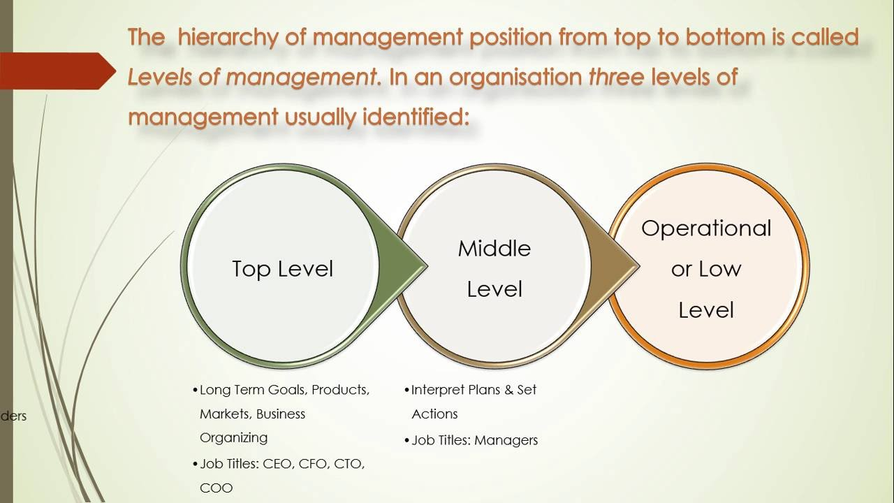 three levels of management in an organization