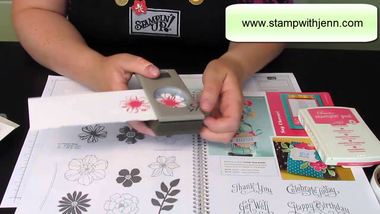 Tips For Using Stampin Ups Pansy Punch With Flower Garden Stamp
