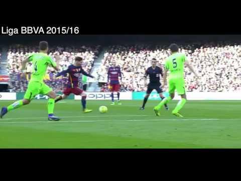 2 Goles de Neymar vs Getafe, Barcelona 6 - 0 Getafe, Goles y Resumen, Liga BBVA 2016