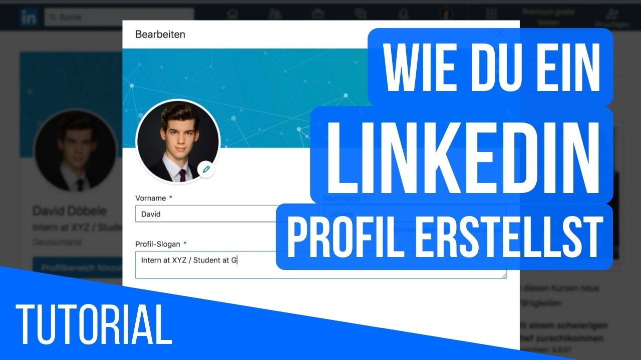 Linkedin Tutorial Professionelles Profil Erstellen Auf Linkedin Youtube