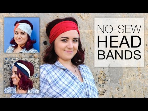 DIY No Sew Headband Styles Tutorial
