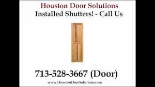 Board N Batten Shutters Installed Houston - Houston Door Solutions - 713-528-3667 (door)
