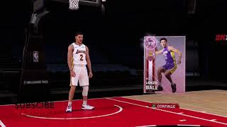 PINK DIAMOND  LONZO BALL STATS & BADGES   NBA 2K18 MYTEAM