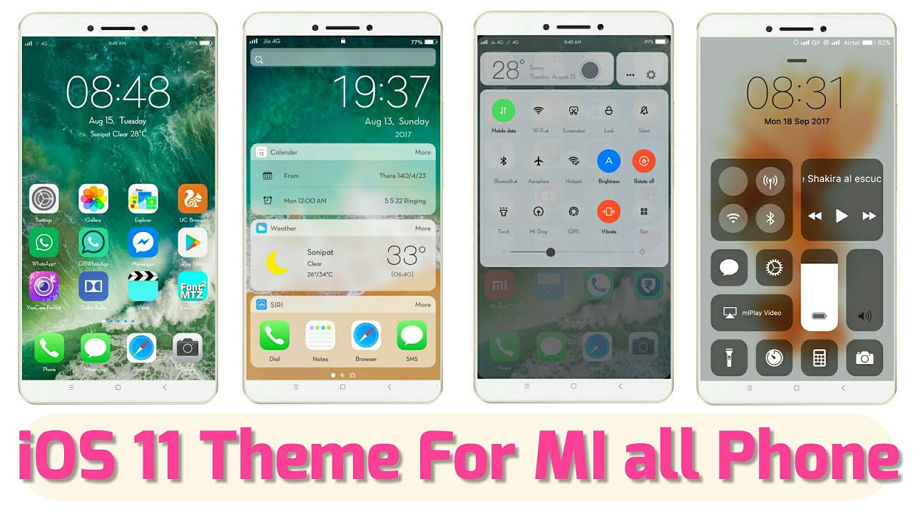 real iOS theme for MIUI 8 / MIUI 9 , Get transition iOS effect in android  phone, ilauncher working