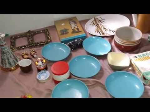 Collective Thrift Store and Ebay Haul 2/26-2/27/15: Mid Century Modern and SO MUCH MORE!!!