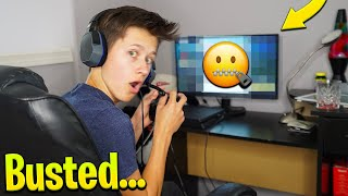 I Caught My Little Brother Doing This In Fortnite... | David Vlas