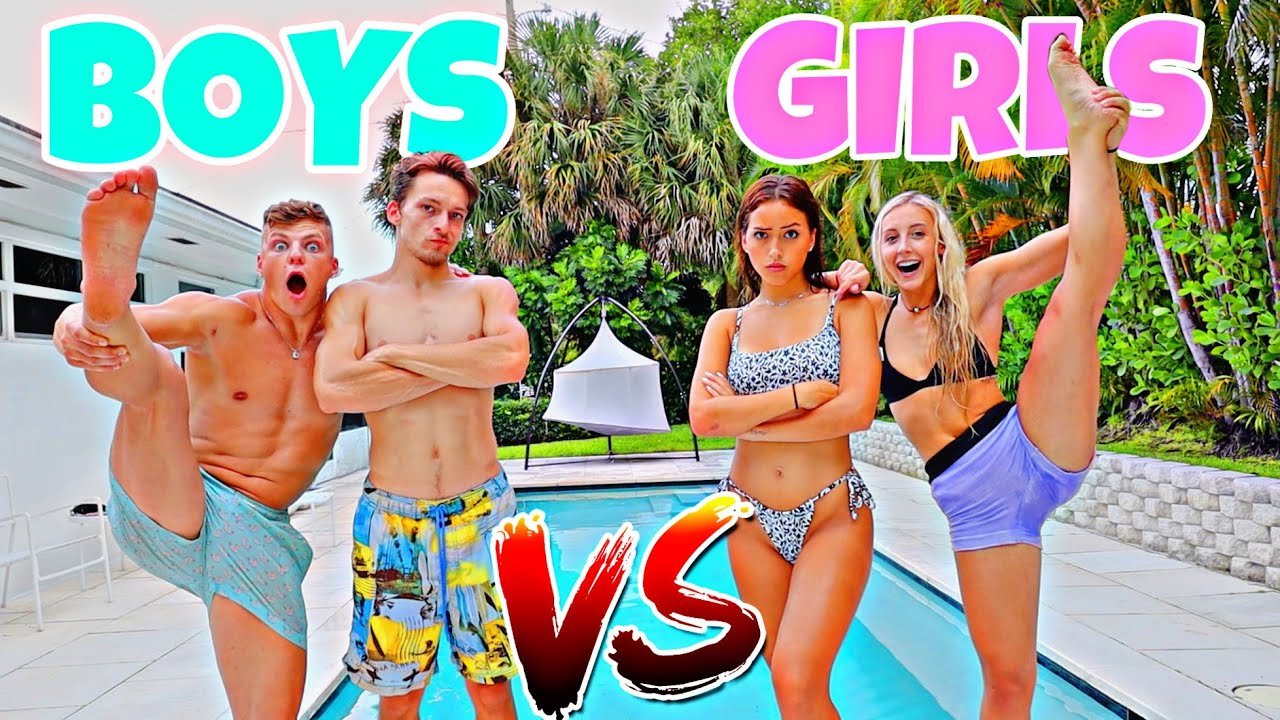 BOYS VS GIRLS CRAZY CHALLENGES!