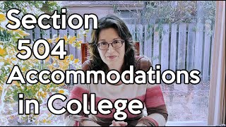 Section 504 Accommodations in College - What You Need to Know