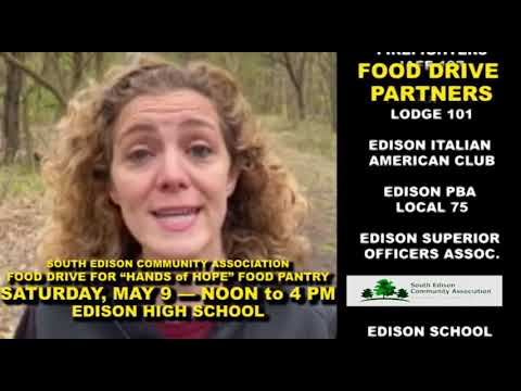 Edison Food Drive for Hands of Hope - Sat., May 9, 12-4 pm