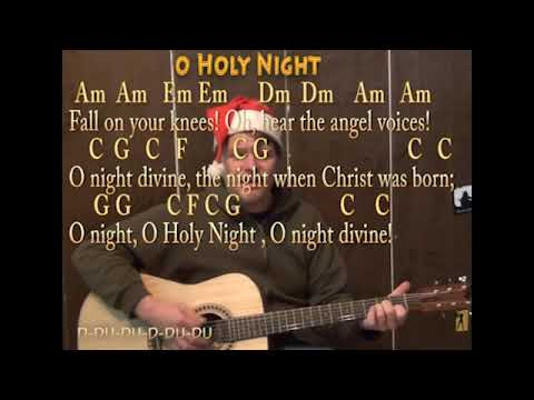 O Holy Night (Christmas) Strum Guitar Cover Lesson with Lyrics ...