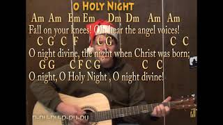 O Holy Night (Christmas) Strum Guitar Cover Lesson with Lyrics Chords - Play and Sing