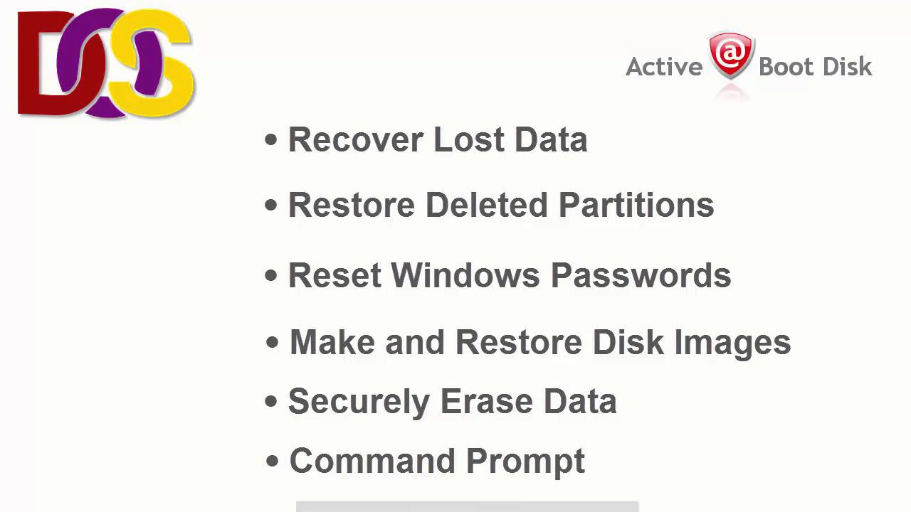 How to Create a Bootable Disk? Active@ Boot Disk for DOS