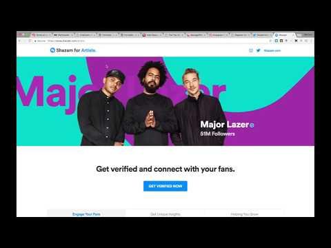 Shazam Verification For Artist