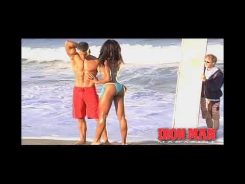 Greg Plitt and Alicia Marie Iron Man Magazine Cover Shoot