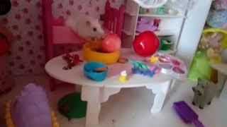Кукольный домик с хомячками