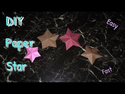 DIY Paper Star - How To Make An Easy Paper Star