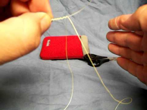 How to tie a Tony Pena Knot - HookBuzz.com - YouTube