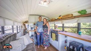 Download DIY Off Grid 28ft School Bus Tiny House - Corporate America To Freedom