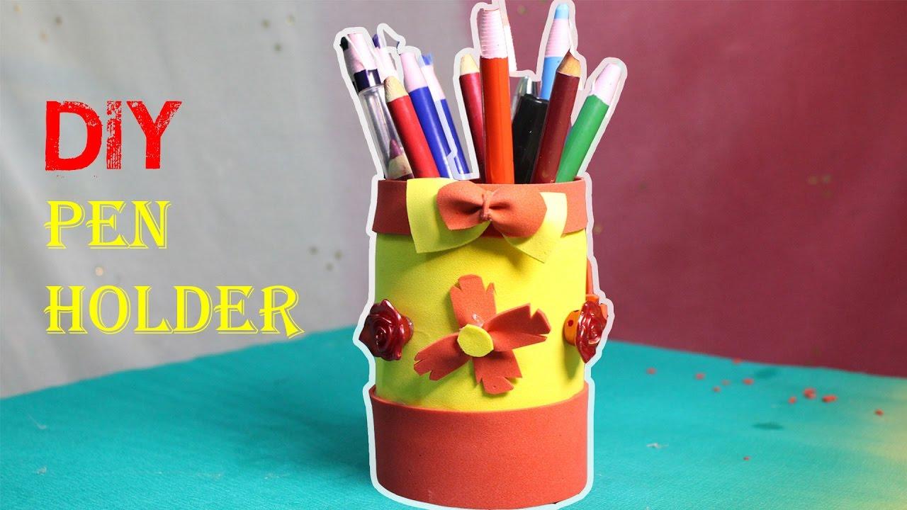 How To Make Pen Holder Using Plastic Bottle - DIY | Make a ... for Diy Plastic Bottle Pen Holder  575lpg