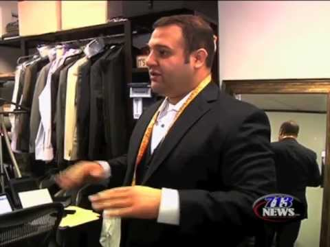 Local Tailor Makes Custom European Men's Suit