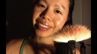 ASMR THE MOST GENTLE Face Brushing to Relax You (tico, skk, stipple, kiss, Beautiful Wind Chimes)