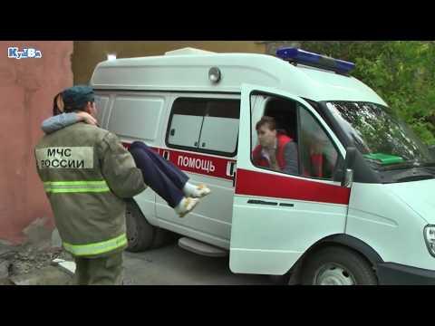 Учебная эвакуация в Центральной городской больнице