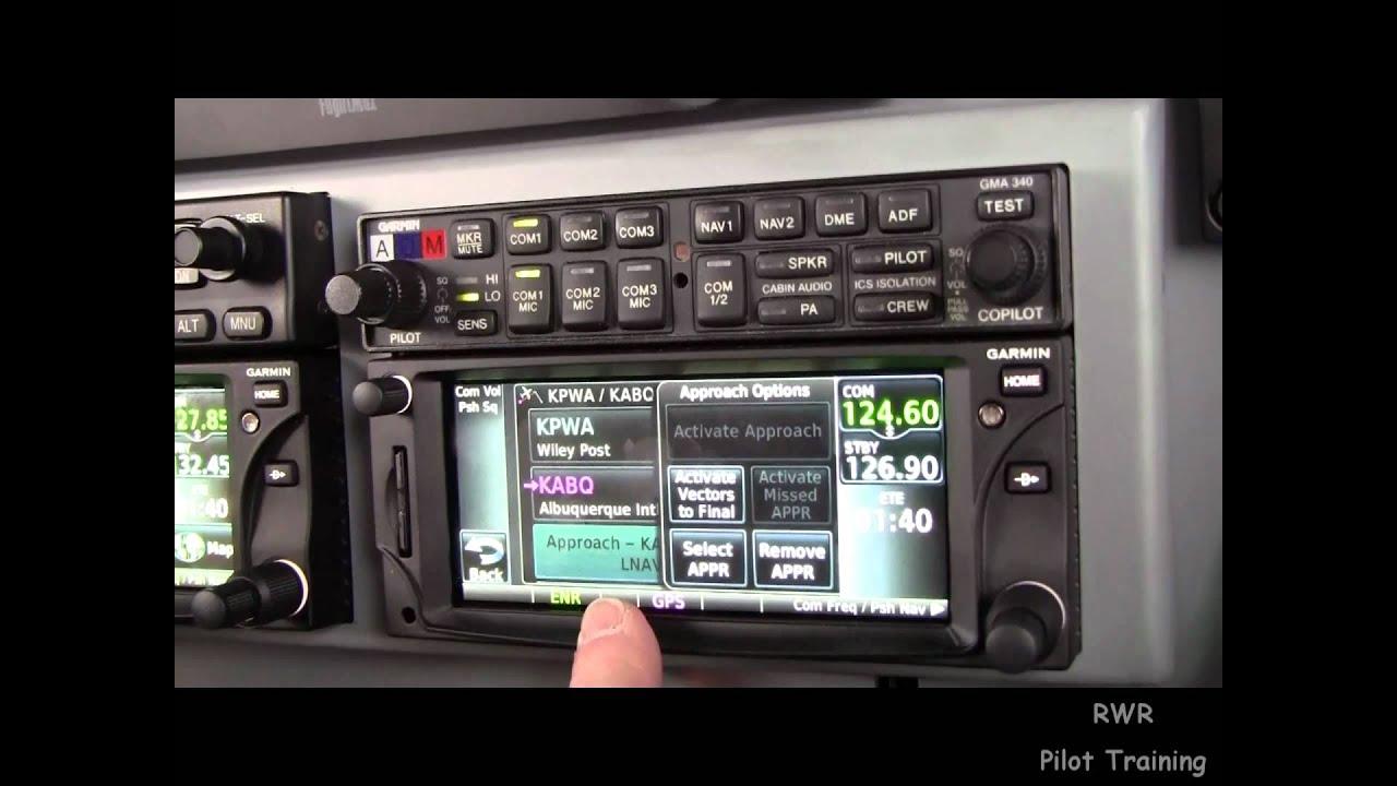 Garmin GTN 650 Loading the Approach