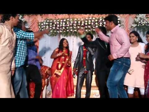 Dance in ma marriage reception in Bangalore