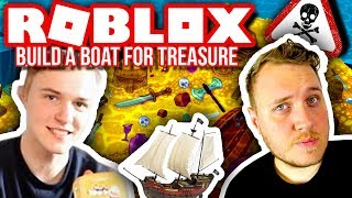 GUNS ON THE BOAT! ⛵🔥💰:: Vercinger and Kova in Dansk Roblox: Build a Boat for Treasure