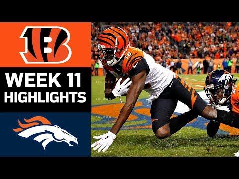 Bengals vs. Broncos | NFL Week 11 Game Highlights
