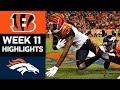 Bengals vs. Broncos   NFL Week 11 Game Highlights