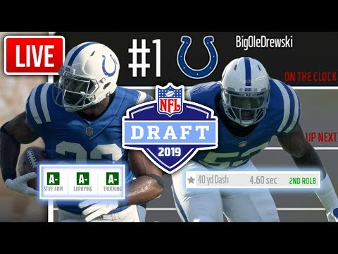 2019 NFL DRAFT LIVE! Madden 18 Colts Connected Franchise Ep. 37 (S2)
