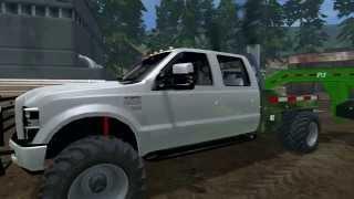 Farming Simulator 2015 Mods- Ford F-350, Manual Ignition Mod, & PJ Trailer