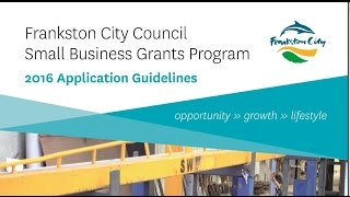 Frankston City Council Small Business Grants Program