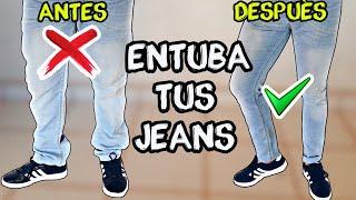 ENTUBA TUS PANTALONES A MANO - SIN MAQUINA DE COSER (JEANS DE FLOJOS A SKINNY)