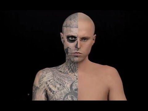 À quoi ressemblait Zombie Boy sans ses tatouages