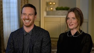 Michael Fassbender and Rebecca Ferguson discuss their new horror film 'The Snowman'