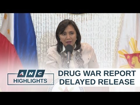 PH Vice President Robredo delays release of drug war report | ANC Highlights