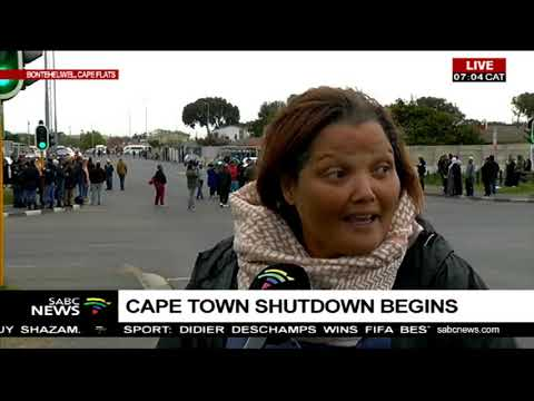 UPDATE: Cape Town shutdown begins
