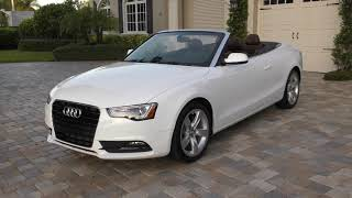 This 2014 Audi A5 2.0T quattro is the Best 4 Seat Convertible from the Most Complicated Car Company