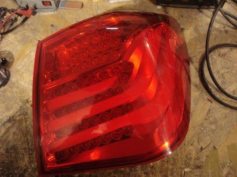 Ремонт задней оптики  BMW STYLE на Chevrolet Cruze