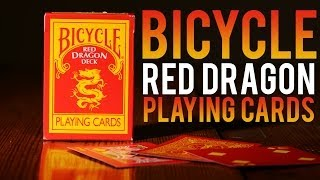 Deck Review - The Bicycle Red Dragon Deck MagicMakersInc.com