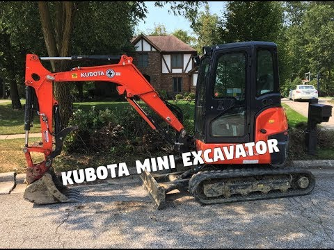 Complete Backyard Renovation (Kubota U35 Mini Excavator)